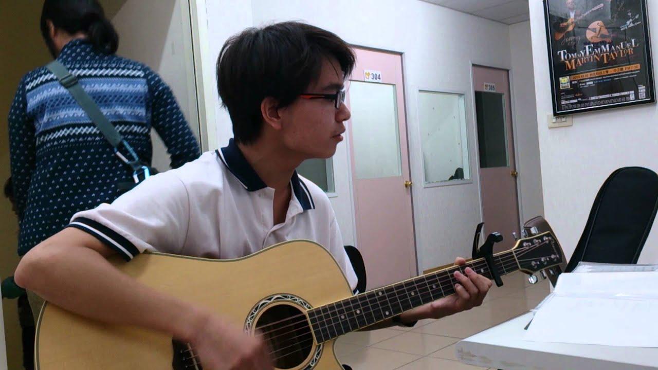 快樂音符 學生 冠廷 吉他彈唱「艷火」 - YouTube