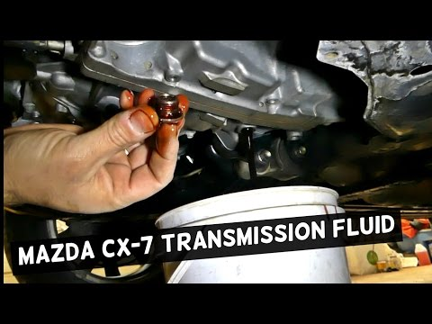 MAZDA CX-7 AUTOMATIC TRANSMISSION FLUID DRAIN FLUSH CX7 2 3 - YouTube