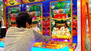 Hit a Coin Pusher Bonus at the Arcade - Then It Did This! | Arcade Nerd | Matt3756
