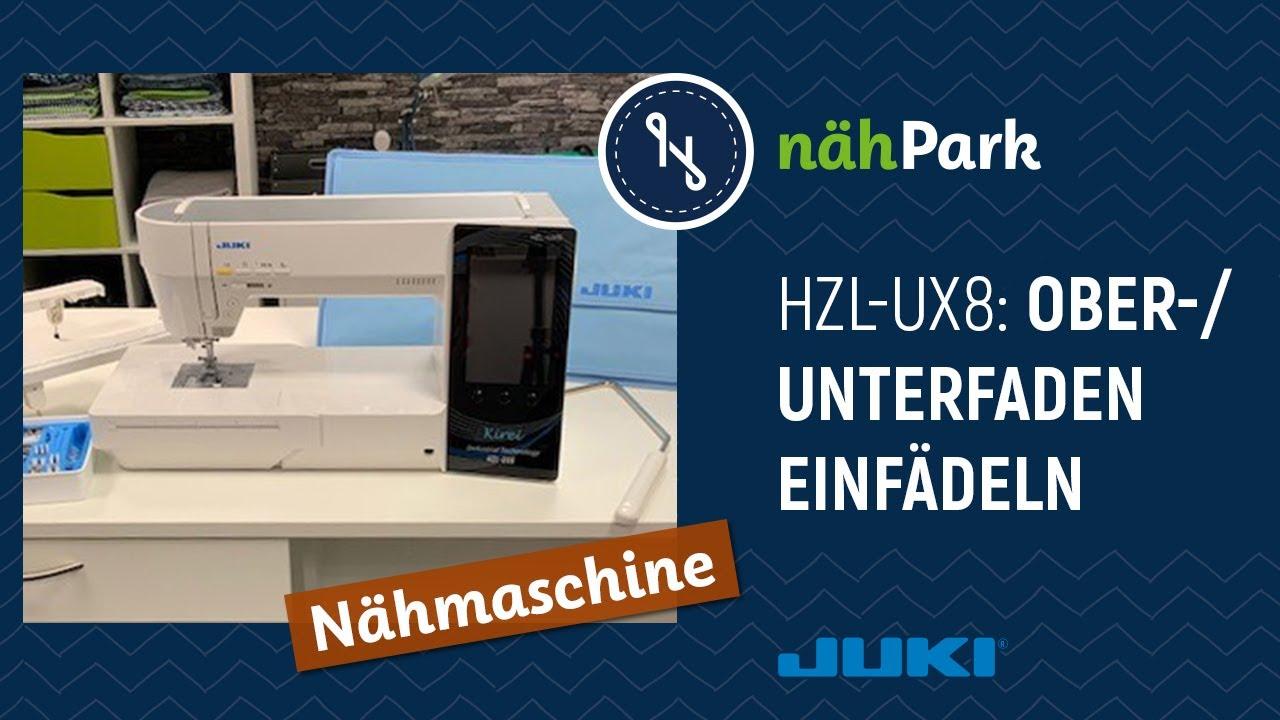 Download JUKI Nähmaschine Kirei HZL-UX8 Ober-  und Unterfaden einfädeln