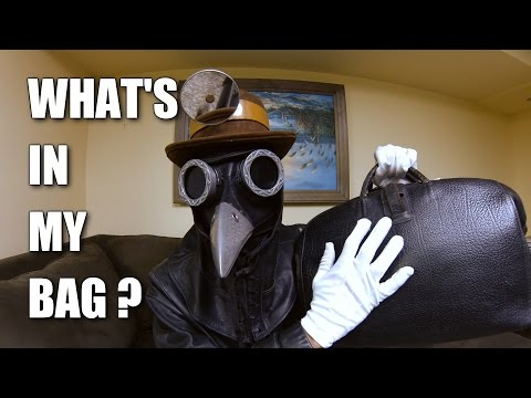 What's in my Bag? with Corvus D. Clemmons ASMR Plague Doctor [ Binaural ]