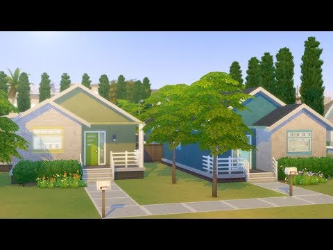 TWO TWIN HOUSES // The Sims 4: Speed Build thumbnail