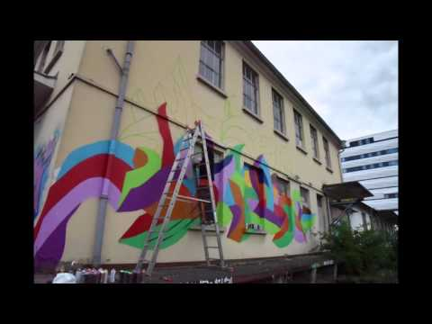 Kool Koor at the Top Rock Graffiti Session 2015 - Heidelberg, Germany - time lapse