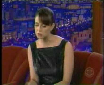 Mia Kirshner with craig ferguson