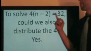 Part 1 of 2: Solving multi-step equations is easy! *with practice*