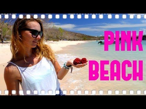 MariolaWpodrozy Różowa Plaża/Pink Beach na Lombok, Indonezja