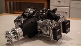 Unboxing the Rotomotor 170 FS - 170cc 4 Stroke 4 Cylinder Gas RC Engine!