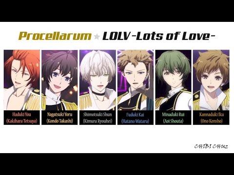 [TSUKIUTA] LOLV (Lots of Love) - Procellarum (Lyrics)