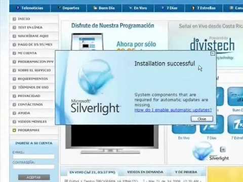Instalar Microsoft SilverLight