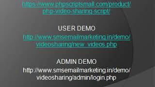 php video sharing script, youtube clone script