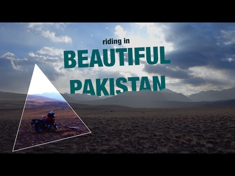 Motorcycle riding in beautiful Pakistan