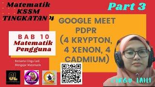 #Googlemeet # MatematikKSSM #Tingkatan4 bab 10 : Matematik Pengguna