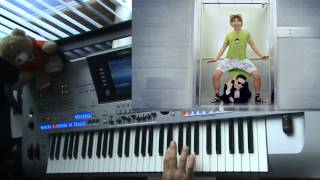 PSY - Gangnam style + video edit. Played on Yamaha Tyros 4.
