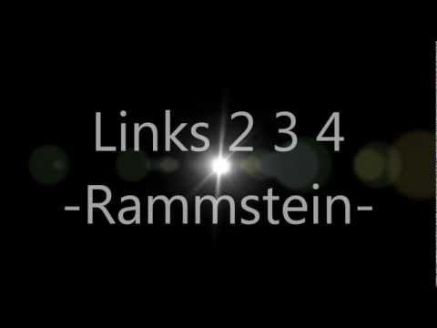 Rammstein - Links 2 3 4 (lyrics)