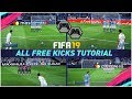 FIFA 19 ALL FREE KICKS TUTORIAL - HOW TO SCORE EVERY FREE KICK (Curve Driven Dipping Trivela Power)