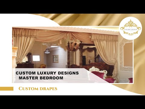 Video #9: Curtain Design in Brentwood | Room Design Ideas | Crystal Drapery Hardware | Galaxy Design