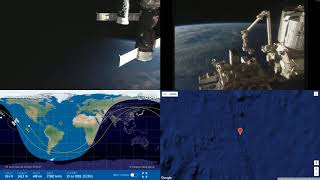 North Atlantic Sunrise - NASA/ESA ISS LIVE Space Station With Map - 32 - 2018-07-19