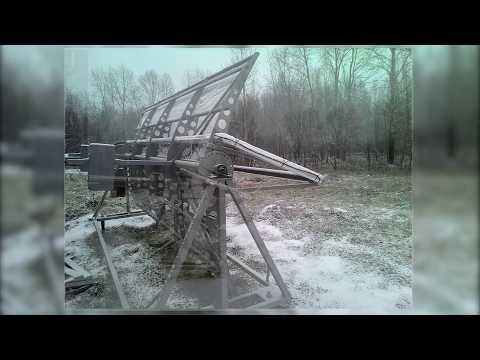 Солнечный концентратор для отопления в Хабаровске. Серия 1