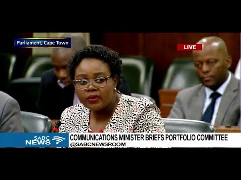 Communications Minister Kubayi briefs parliament committee: 23 Jan 2018 Part 2