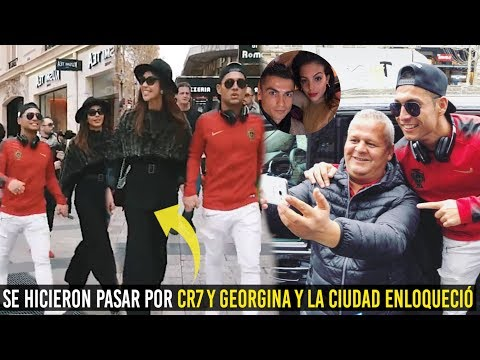 SE HICIERON PASAR POR CR7 Y GEORGINA Y ENLOQUECIÓ TODA LA CIUDAD DE PARÍS ¡INCREÍBLE!