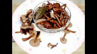 Маринованные Опята на Зиму  Очень Вкусный Рецепт★Pickled Mushrooms for the Winter