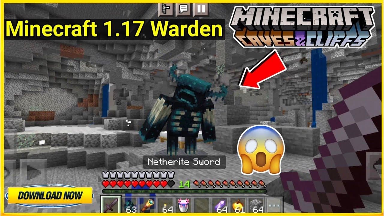 Minecraft 1.17 Warden Mob Addon For Minecraft Pe | Minecraft 1.17 Warden Mob | In Hindi | 2021