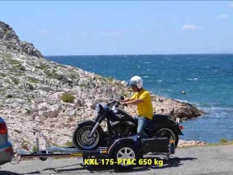 Kxl mil remorques remorque porte moto pour grosse - Remorque porte moto grosse cylindree ...
