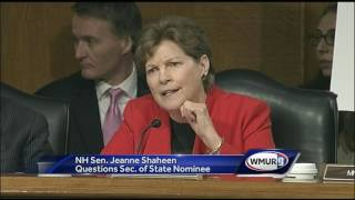 Shaheen questions Tillerson during confirmation hearing