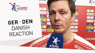 Lindberg Hans O. reacts to Denmark win over Germany in the main rou...
