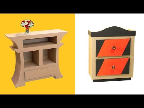 2 Amazing DIY Furniture Crafts using Cardboard | Cardboard Furniture