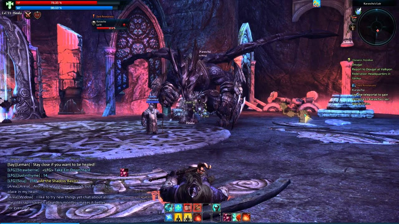 Tera Online High Resolution Textures HD 1080p First Dungeon Run with Priest