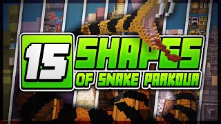 CHEATING MINECRAFT PARKOUR!? (15 SHADES OF SNAKES PARKOUR)