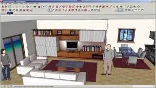 SketchUp: Position Camera, Look Around, and Walk Tools