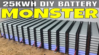Creating my single biggest D.I.Y. battery with 2800 18650 cells recovered from used laptop batteries