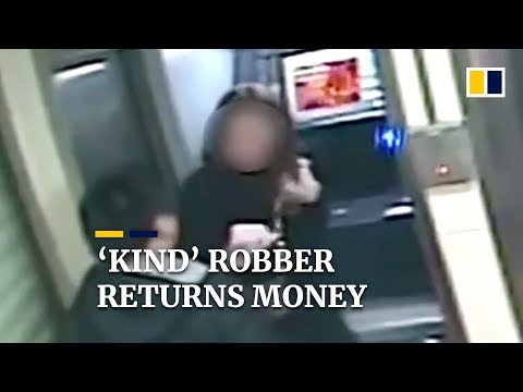 'Kind' Robber Returns Money After Seeing Victim's Bank Balance In China