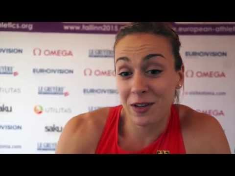 Alexandra Burghardt (GER) after winning Silver in the 100m