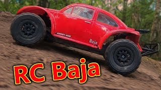 Traxxas Slash Baja 4x4 RC Car Fun (broke it)