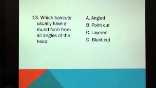 (15 Cosmetology: TEST questions: Principles of Hair Design
