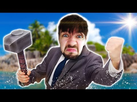 MAN GOES CRAZY ALONE AT SEA | Raft #1