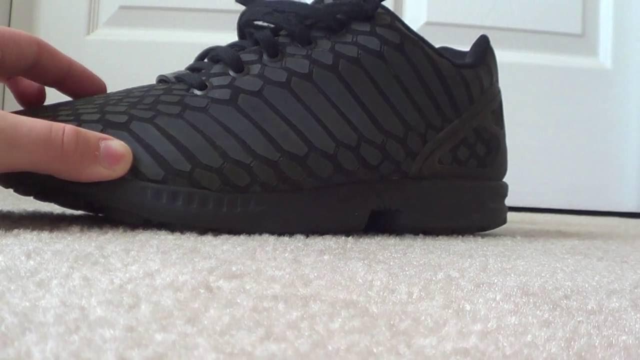 adidas zx flusso riflettenti, revisione e a piedi!!!!!!!!!su youtube