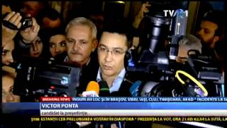 Declaraţii Victor Ponta: L-am sunat pe domnul Iohannis, l-am felicitat pentru victorie