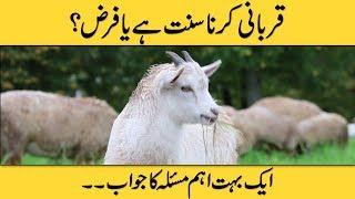 Qurbani Karna Farz Hai Ya Sunnat ? | Qurbani Kin Logon Par Farz Hai ? | Qurbani Vlog 2018