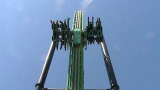 Green Lantern: First Flight off-ride HD Six Flags Magic Mountain