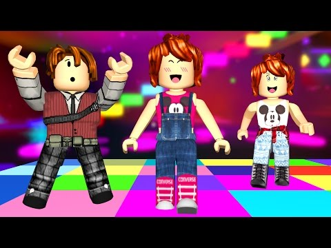 Roblox - DANÇA DOS BLOCOS EM FAMÍLIA (Crazy Colors) - Видео из Майнкрафт (Minecraft)