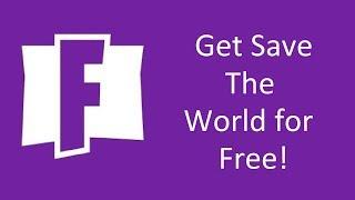 Comment obtenir Fortnite Save the World gratuitement! (Kinda)