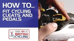 How to fit cycling cleats and pedals