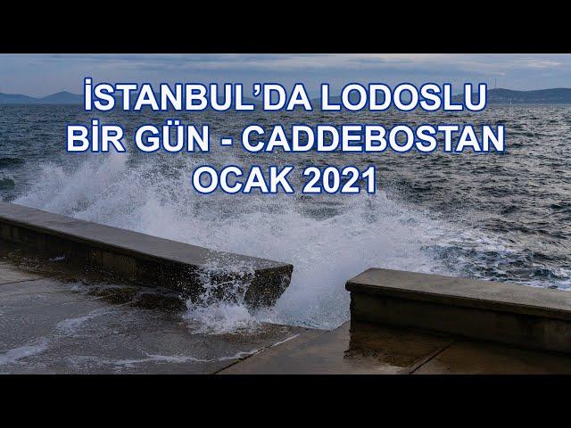 Caddebostan Sahilde Lodos - İstanbul - Ocak 2021 / Lodos on the Beach - Istanbul - 2021 Jan