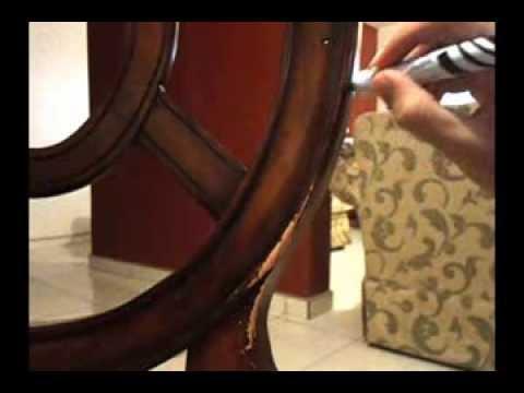 Como reparar o restaurar madera en casa youtube - Pasta para reparar madera ...