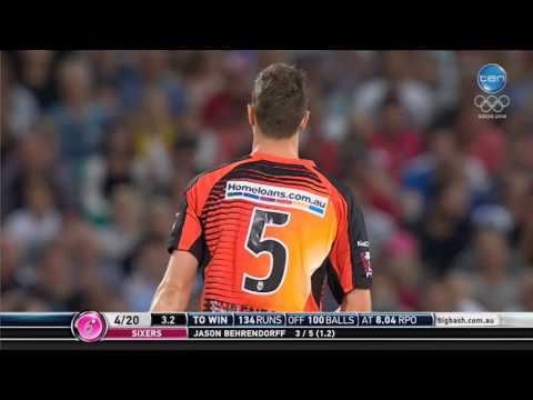 Thumbnail: Sixers vs Scorchers Super Over highlights