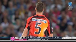 sixers vs scorchers super over highlights
